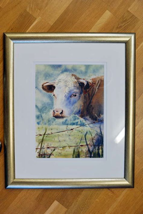 How To Frame A Watercolor Painting Watercolor Paintings