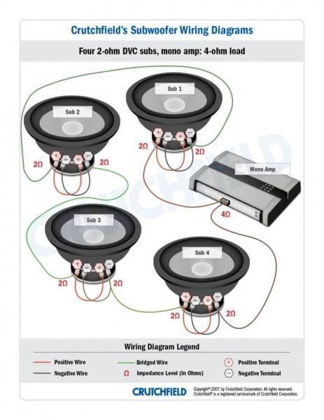 1 Ohm Speaker Wiring Diagram Avtomobilnaya Audiosistema Usilitel Elektrotehnika