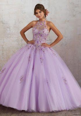 Vestidos De Xv Años Para Fiesta Color Violeta Vestidos En
