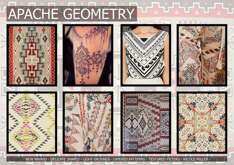 Textile candy: Premiere Vision Spring/Summer 2016 apache geometry, new navajo, geometric tattoo, geometric design, delicate
