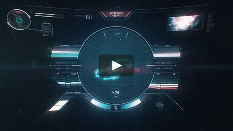 SHIP HUD ANIMATION - MOTION GRAPHICS PROJECT