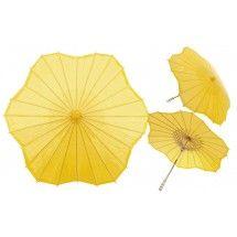 Yellow Scalloped Shaped Paper Parasol