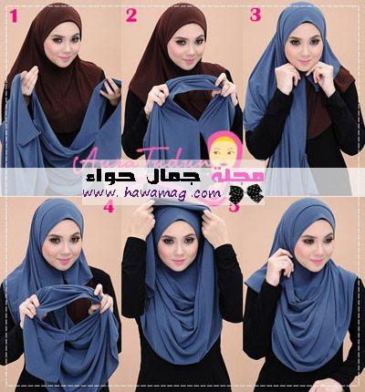 طرق لف الخمار المفتوح الخمار الطويل الخمار الشيفون الخمار الماليزي الخمار الشرعي Simple Hijab Tutorial Hijab Fashion Hijab Style Tutorial