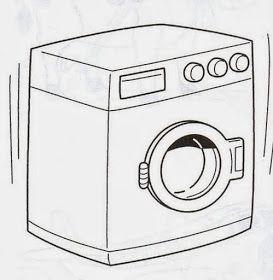 Maestra De Primaria Muebles Y Objetos De La Casa Para Colorear Lavadora Dibujo Objetos Manualidades De Tarros
