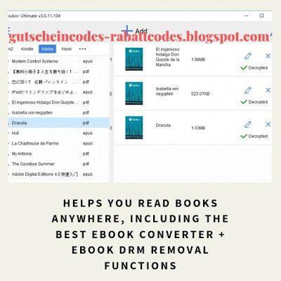 Epubor Ultimate Coupon Code Gutschein Code Gutscheine Rabatt