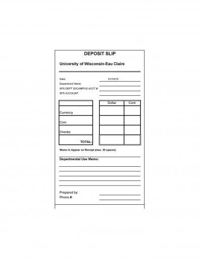 Download Deposit Slip Template 08 Workforce Management Wells Fargo Account Deposit