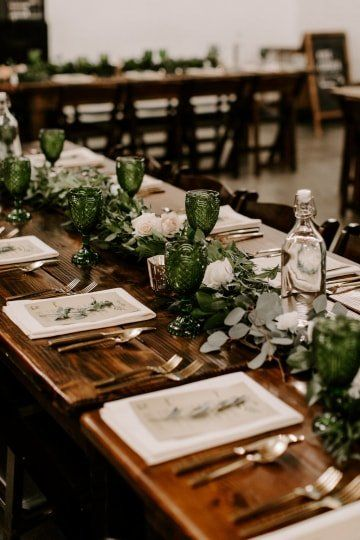 Rustic Wedding Centerpieces Greenery Candles White Flowers And