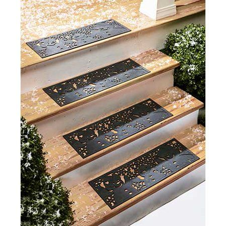 Home Improvement Outdoor Porch Stair Mats Stair Decor   Walmart Outdoor Stair Treads   Rubber Stair   Rubber Backed   Walmart Com   Step Mats   Anti Slip