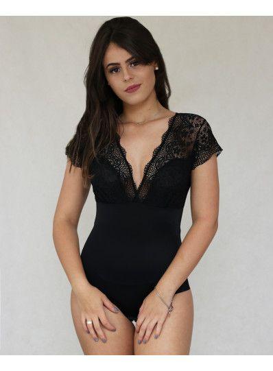 ae44fbe5f Encontre o melhor Body Feminino Renda Preto Cetinete para você comprar pelo  menor preço em nossa