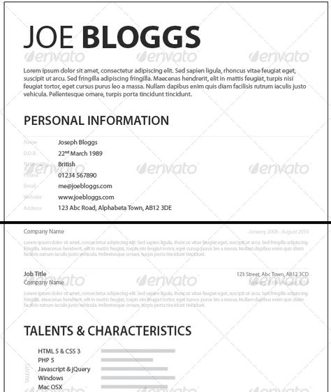 Monochromatic Simple Clean Elegant Resume \/ CV Resume cv, Font - resume or curriculum vitae