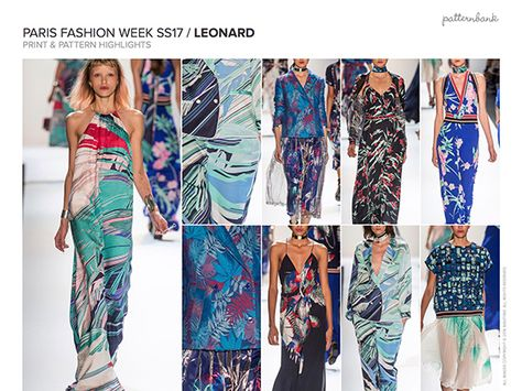 Patternbank brings you our biggest in-depth catwalk trend report. Highlighting the key Spring/Summer Print and Pattern trends from the latest New York, London, Paris and Milan catwalk and runway shows. The team have gathered information from the designers collections and compiled a selection of the most prominent print looks trending for Spring/Summer 2017 together with an insight into colours for the season. 10 key print trend stories for Spring/Summer 2017 Over 84 pages of in...