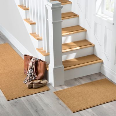 Help keep your floors cleaner with a stair treads and rug set! Protect your floors from dirt, debris, and more.