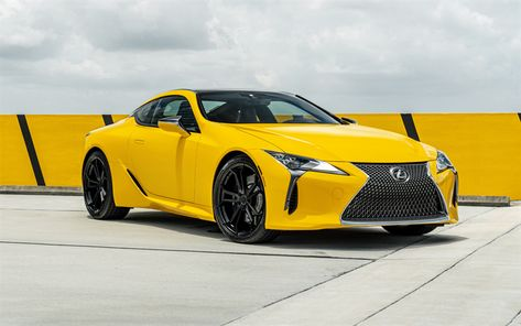 Download Wallpapers Lexus Lc 500 4k 2018 Cars Supercars Yellow