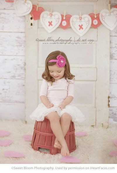 Valentines Day Photography Inspiration - Child Portrait by Sweet Bloom Photography via iHeartFaces.com