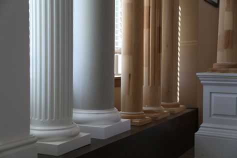 Elite Trimworks offers a wide variety of both interior and exterior decorative columns. Many of your columns are made right on the premises. No need to worry if you don't see exactly what you are looking for, seeing as how we make many of our columns in house, customizing is second nature to us. Let us know the details like quantity, size and the specie that you are looking for and we'll get back to you with a detailed quote.