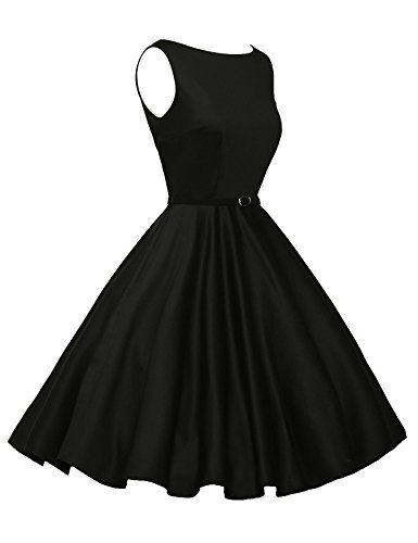 Fashion Bug Plus Size: Accessories: Sleeveless Cotton Rockabilly Tea Dress with Belt VL6086 (Multi-Colored)
