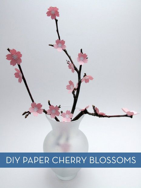 How To Make A Branch Of Paper Cherry Blossoms Paper Flowers Paper Flower Instructions Cherry Blossom Branch