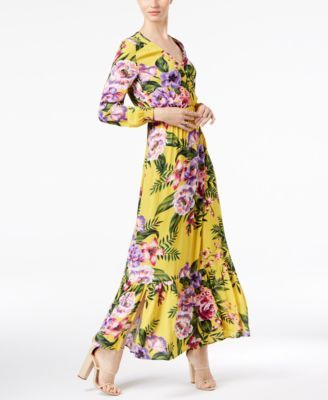 ECI Floral-Print Maxi Dress | macys com | My Closet: Macy's in 2019
