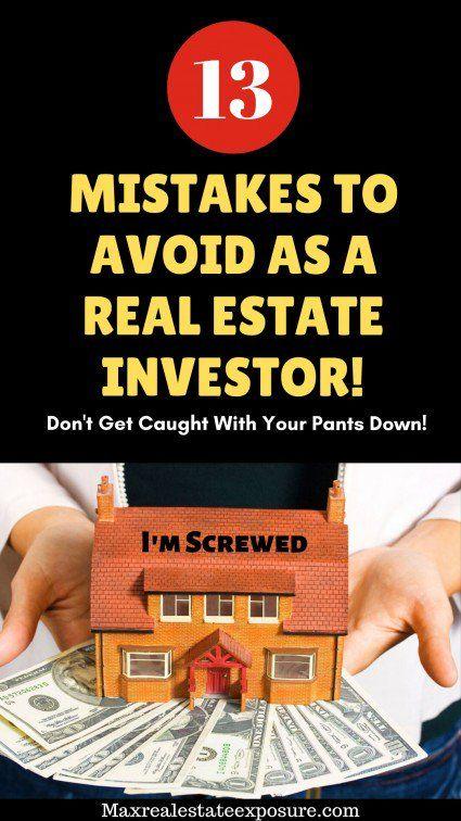 Mistakes Real Estate Investors Make