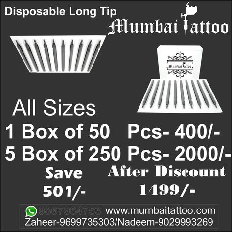 tattooartist Disposable Long Tip for more...