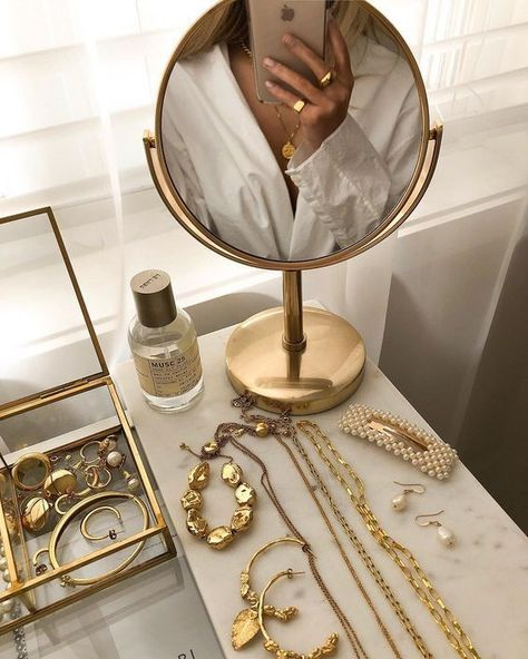 Gold Jewelry #jewelry #goldjewelry #beautysetup