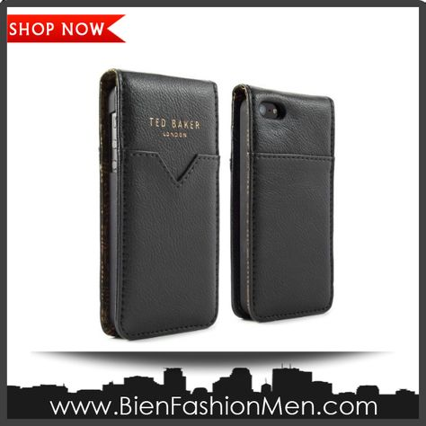 Mens iPhone Wallet | iPhone Case | iPhone Cover | Phone Wallet | SHOP NOW ♦ Ted Baker 09502 Men's Flip Case for iPhone 5 - 1 Pack - Carrying Case - Retail Packaging - Black $43.96