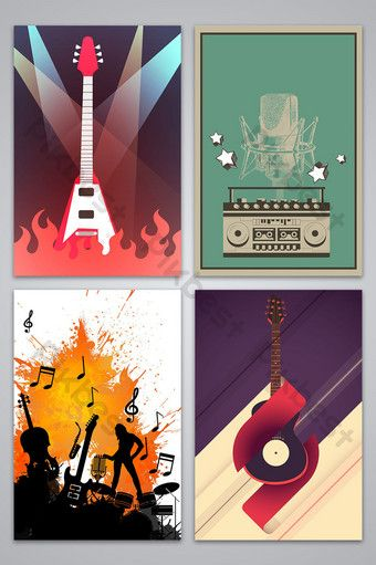 Vector Vintage Hand Drawn Retro Music Poster Background Image In 2020