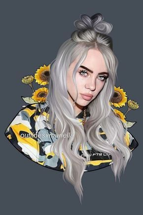 10 Ways To Use Stickers To Flood Your Socials With Billie Eilish Fan Art Create Discover With Picsart Billie Billie Eilish Art Girl