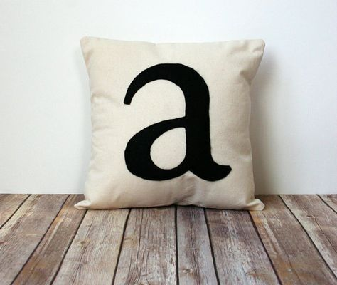 Personalize Your Space With This Fabulous Initial Pillow Cover Cool Initial Pillow Covers