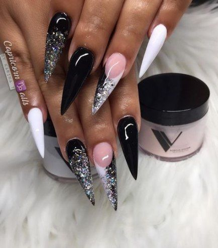 19 Ideas For Nails Design Black And White Acrylic