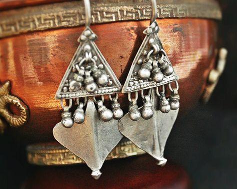 Rajasthani Moon Amulet Box with Dangles Rajasthani Jewelry Tribal Rajasthan Pendant Tribal Indian Moon Amulet Indian Tribal Jewelry