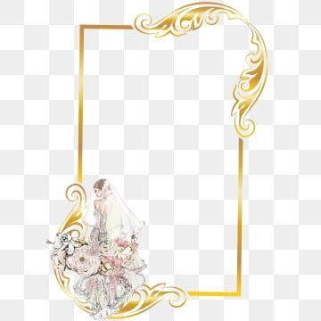Bridegolden عنصر تصميم الإطار إطار العروس عطلة العام الجديد Png وملف Psd للتحميل مجانا Frame Design Design Design Element