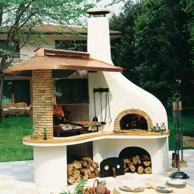 barbacoa horno - Buscar con Google 3 EXterior Design - Outdoor - pizzaofen mit grill