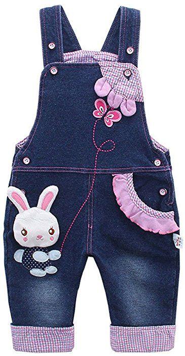 Kidscool Baby Girls Casual Soft Denim Overalls Rabbit /…