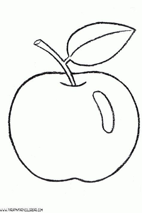 Dibujos De Manzanas 002 Gif Com Imagens Desenhos De Frutas