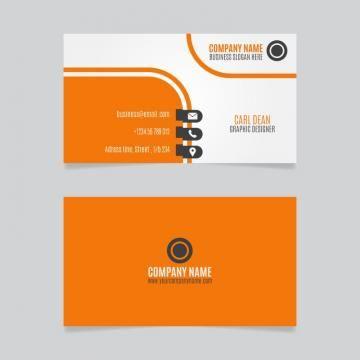 Orange Business Card Business Cards Creative Business Card Design Creative Business Card Design
