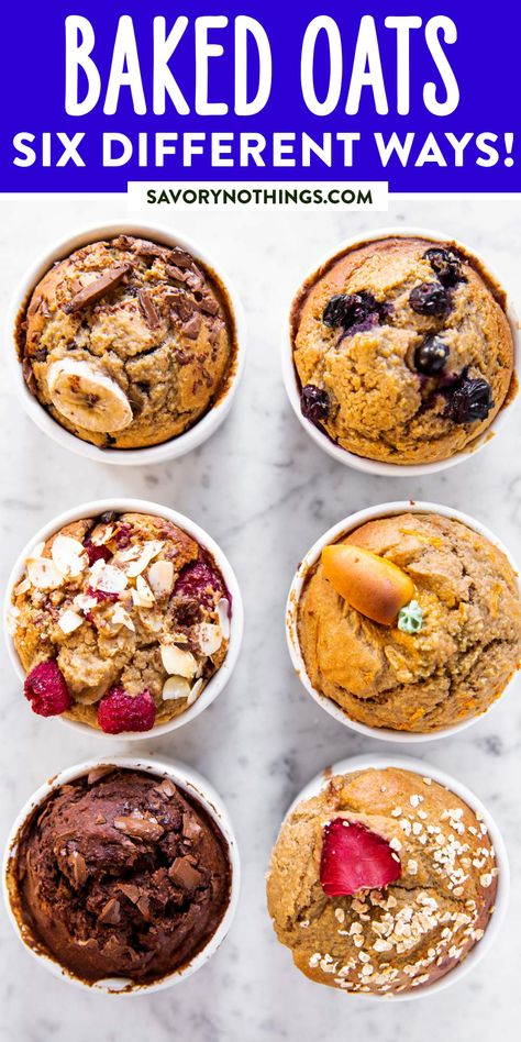 These TikTok Baked Oats are just like eating cake for breakfast. So easy to make with just a handful of healthy ingredients – and I'm giving you 6 flavor variations we love! This is a very simple recipe, you only need six ingredients to make it. But the possibilities are endless! You can make a single serving, or feed a family.   #breakfast #bakedoats #tiktokviral #tiktokrecipe #tiktokfood #healthyfood #oatmeal #oatmealrecipes #healthyrecipes #healthybreakfast #healthybaking #healthycooking