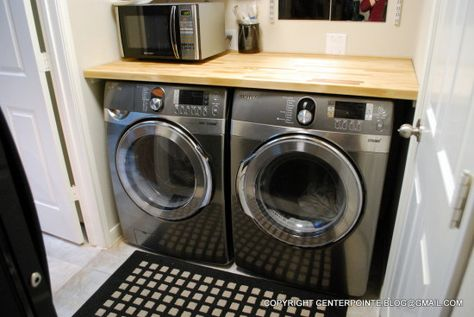 Numerar laundry room Laundry room countertop Butcher blocks and