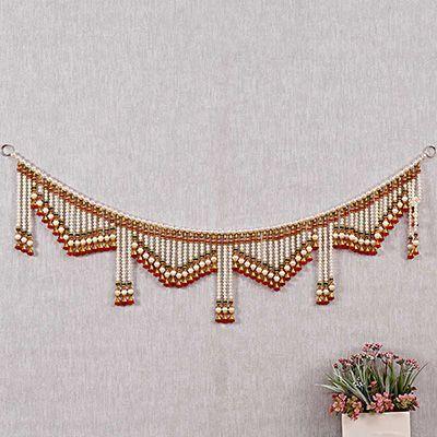 8374ec5d3ed Traditional Handmade Pearl Door Hanging Toran Online   Pearls ...