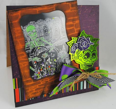 WOW! WOW! WOW! WOW! WOW! and WOW! Fabulosity! The Pampered Stamper: Stampendous: Shaking It Up With Skulls and Skeletons