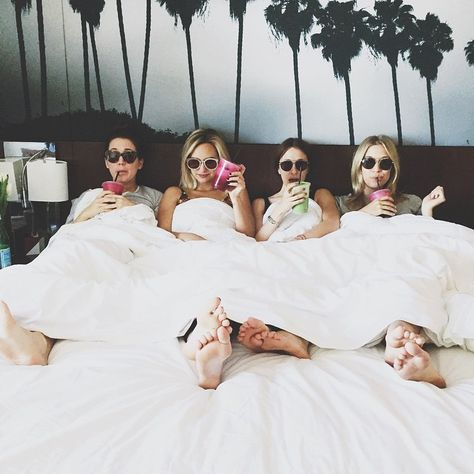 lol! but actually, this looks pretty great..  Drinks. Bed. Friends. Perfect.