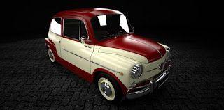 Fiat 600 Retro Prototipo I Fiat 600 Prototipos Motocicleta