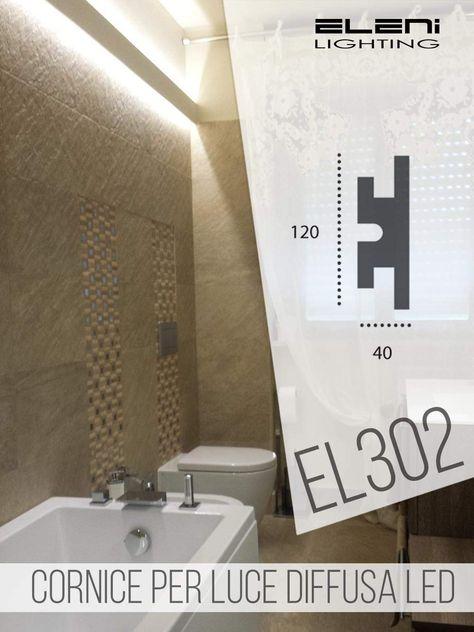 Cornice Per Illuminazione Indiretta Led Doppia A Parete El302 1