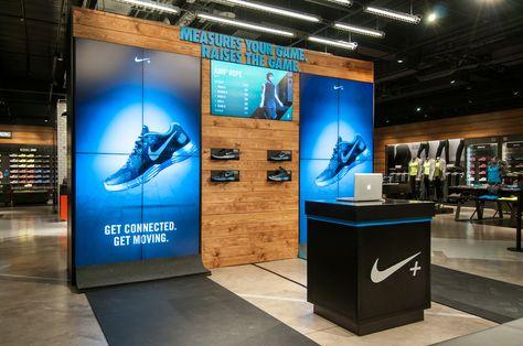 NIKE Retail Display   LUNARGLIDE+ & HYPERDUNK+   Niketown London & Westfield Stratford City, 2012 by Millington Associates