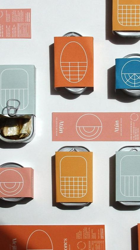 Canned Son Sardina seafood packaging design by Barceló Estudio