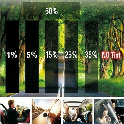 Black Gray Car Glass Window Tint Film Vinyl Roll Anti Uv Sun Block Prevention Ea Window Tint Film Tinted Windows Tints