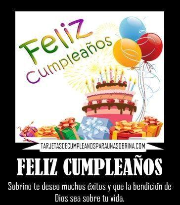 Tarjetas De Cumpleaños Para Una Sobrina Muy Especial Y Querida Que Está Lejos Gratis Par Tarjetas De Feliz Cumpleaños Feliz Cumpleaños Sobrino Feliz Cumpleaños