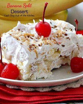 Banana Split Dessert Recipe Banana Split Dessert Banana Split Dessert Recipes Desserts