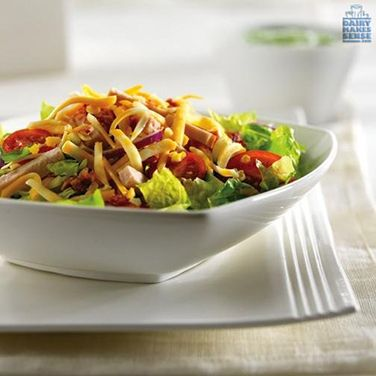 This Colby Cobb Salad is a colorful way to maintain a healthy eating pattern between workouts.