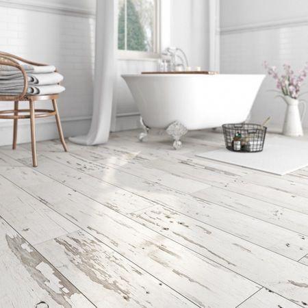 From White Wood Flooring Through To White Tile Flooring We Show You Your White Flooring Options Shabby Chic Bathroom Shabby Chic Kitchen Bathroom Floor Tiles